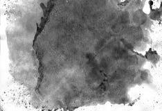 非常HIGHT决议 几何街道画摘要背景 在白皮书的黑丙烯酸漆冲程纹理 免版税图库摄影