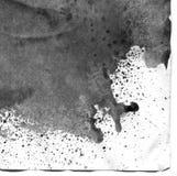 非常HIGHT决议 几何街道画摘要背景 在白皮书的黑丙烯酸漆冲程纹理 图库摄影