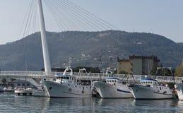 非常la spezia港口好的看法  库存照片