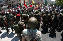 非战抗议在贝鲁特 免版税库存照片