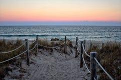 非法侵入海滩 库存照片