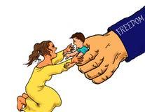 非法移民儿童拘留 向量例证