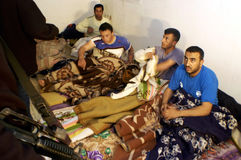 非法巴勒斯坦工作者在以色列 免版税库存照片