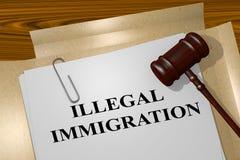 非法移民-法律概念 库存例证