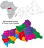 非洲中央映射共和国 免版税库存照片