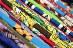 非洲五颜六色的织品 库存照片