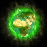非洲亚洲秀丽地球欧洲行星 库存照片