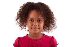 非洲亚裔逗人喜爱的女孩一点 免版税库存图片