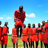 非洲人跳传统 免版税库存图片