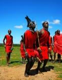 非洲人跳传统 库存图片
