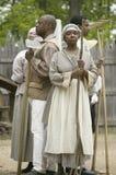 非洲从属reenactors 免版税图库摄影