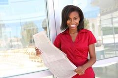 非洲企业俏丽的妇女 免版税库存图片