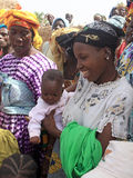 非洲儿童妇女 免版税库存图片