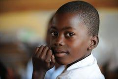 非洲儿童学校 免版税库存图片