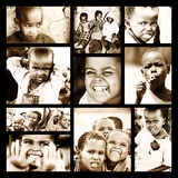 非洲儿童拼贴画 库存照片