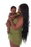 非洲儿童母亲 库存照片
