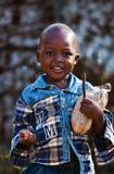 非洲儿童肯尼亚人 图库摄影