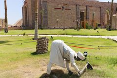 非洲公园在阿斯旺,埃及 库存照片