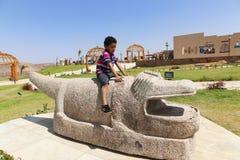 非洲公园在阿斯旺,埃及 库存图片