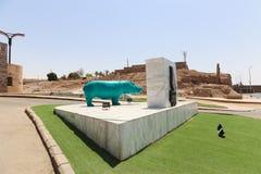非洲公园在阿斯旺,埃及 免版税图库摄影