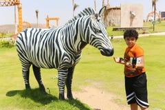 非洲公园在阿斯旺,埃及 图库摄影