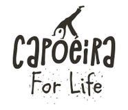 非洲出身海报Capoeira巴西舞蹈  免版税库存图片