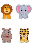 非洲动物动画片象 向量例证