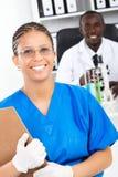 非洲医疗研究员 库存图片
