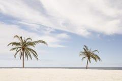 非洲南海滩的掌上型计算机 免版税库存照片