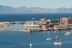 非洲南港口的simonstown 免版税库存图片