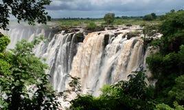 非洲南维多利亚瀑布 免版税库存照片