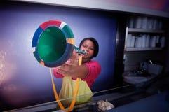 非洲南vuvuzelamania 库存照片