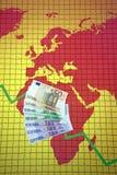 非洲危机经济欧洲世界 库存照片