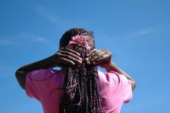 非洲发型 免版税图库摄影