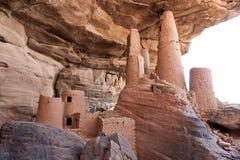 非洲古老dogon马里村庄 库存图片