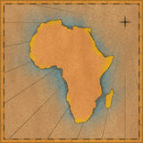 非洲古色古香的映射 库存图片