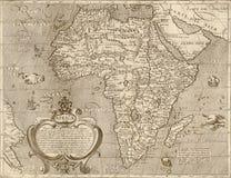 非洲古色古香的映射 免版税库存照片