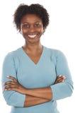 非洲可爱的妇女 免版税库存图片