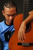 非洲吉他人 免版税库存照片