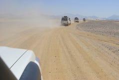 非洲吉普徒步旅行队 免版税库存图片
