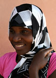 非洲回教妇女 免版税图库摄影