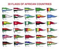 非洲国家30面旗子  免版税库存照片
