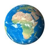 非洲地球模型空间视图 库存例证