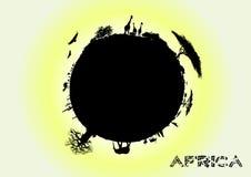 非洲地球 皇族释放例证