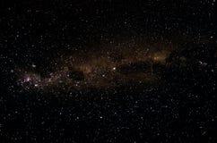 非洲夜空和星形背景 免版税图库摄影