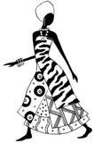 非洲夫人 免版税库存照片