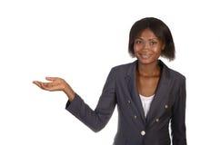 非洲女商人存在 免版税库存照片