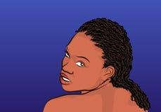 非洲女孩例证 免版税库存照片