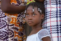 非洲女孩在加纳 库存图片