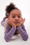 非洲女孩少许纵向 免版税图库摄影